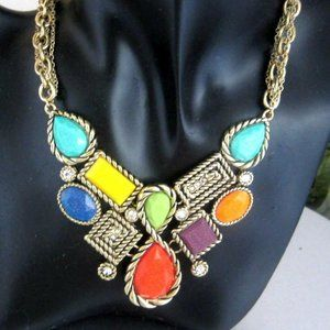 Fashion Jewelry Colorful Pendant style Necklace
